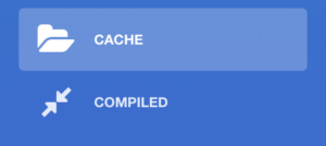 Picture of Framework Graphic Manager Sidebar with cache item selected